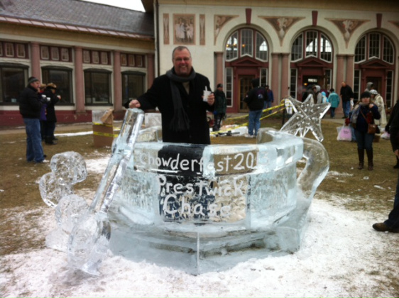 Big Chuck at the official Chowderfest Ice Sculpture!
